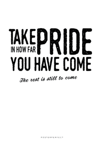 Take Pride - Posterperfect