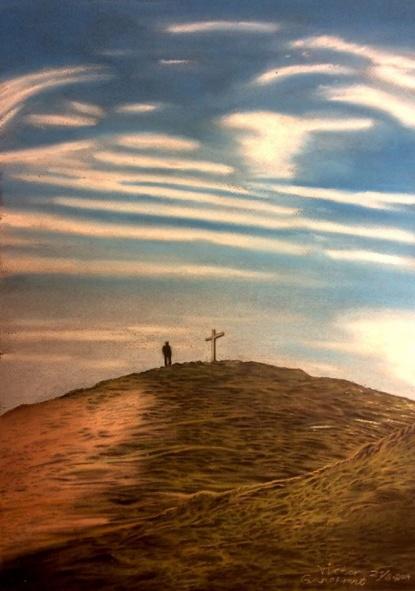 Spirituality, soft Pastel, 30 x 40 cm. SOLD.
