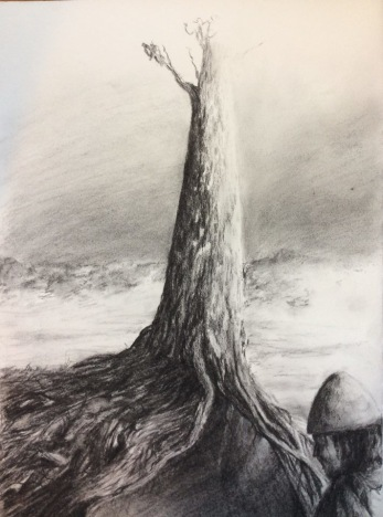 Yggdrasil. Charcoal. 30 x 40 cm. SOLD.