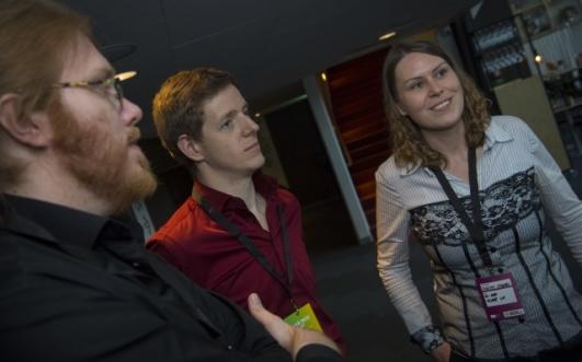 Projektlgruppen besår av Stefan Karlsson, Christoph Schnepf och Evelyn Köberl