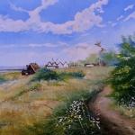 Hamnen i Smygehuk 46x61cm 3500:-