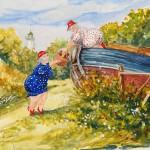 40x50 cm (akvarell) 1900:-
