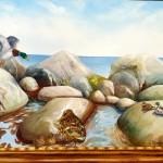 Gräsänder (ramen är målad på duken) 50x70 cm  4500:-