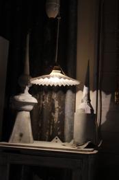 Lampa med veckad skärm