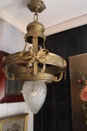 Fransk mässingslampa