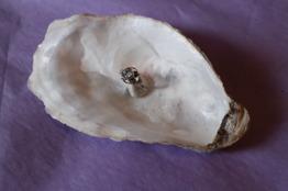 Silverring med blå sten