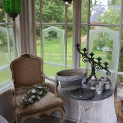Trädgårdsbord med Zinkskiva