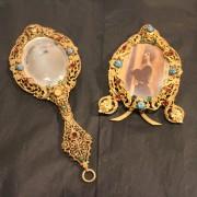 Miniatyr spegel och fotoram