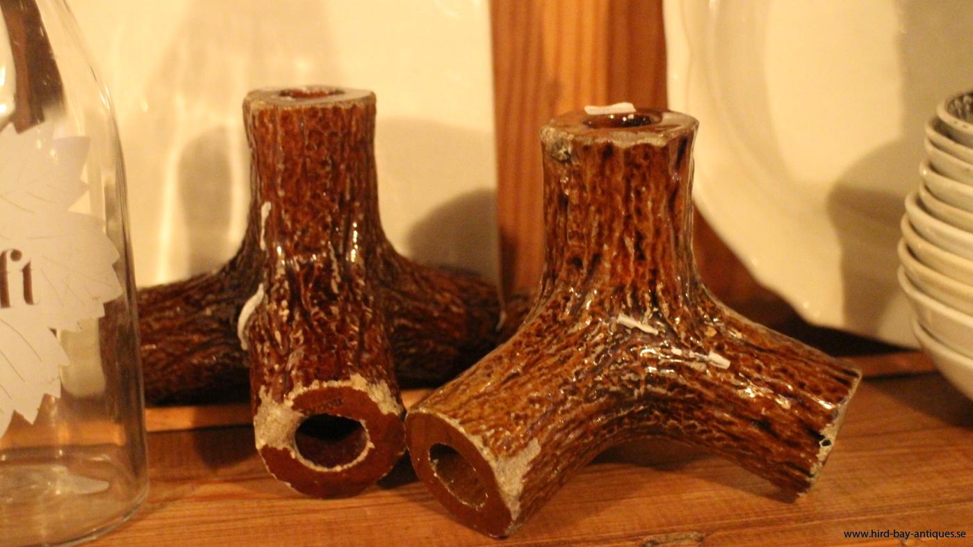 Höganäs stumpastakar trästubbar keramik
