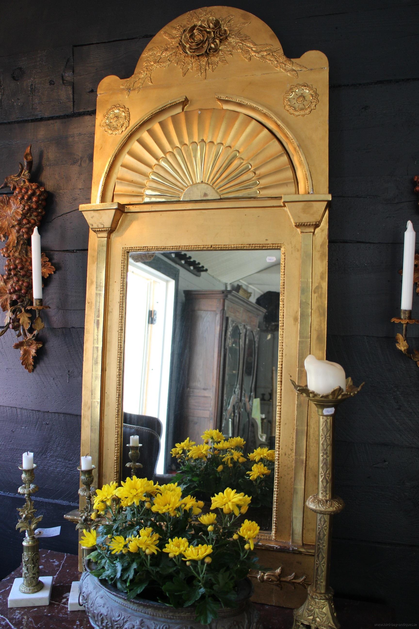 empirspegel solfjäder dekor