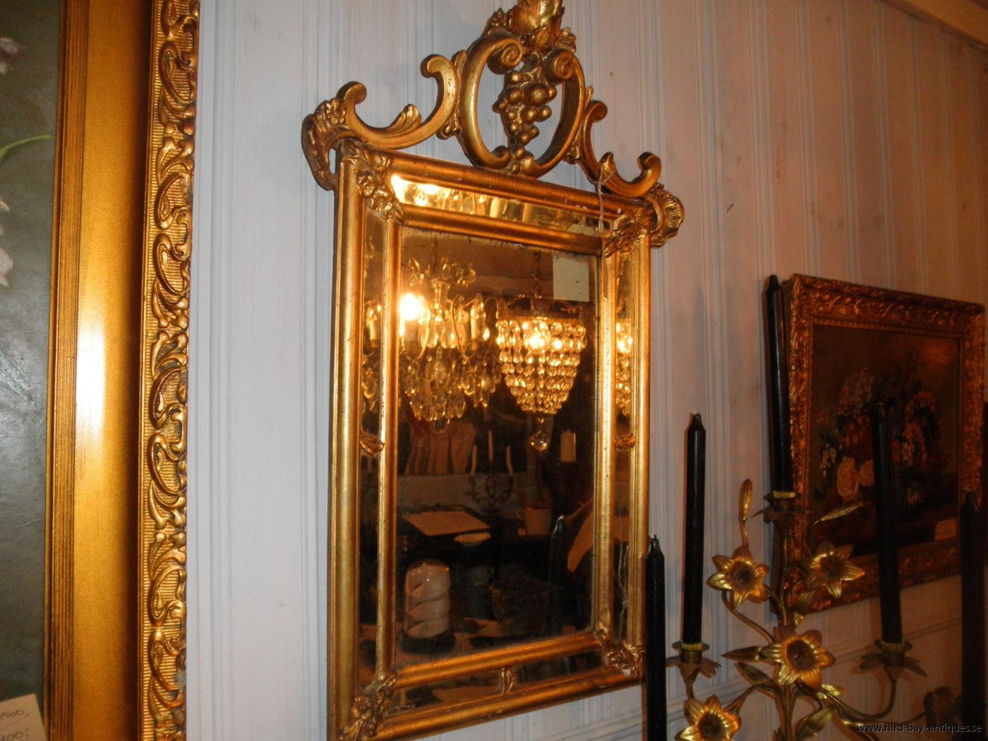 spegel guld rokoko