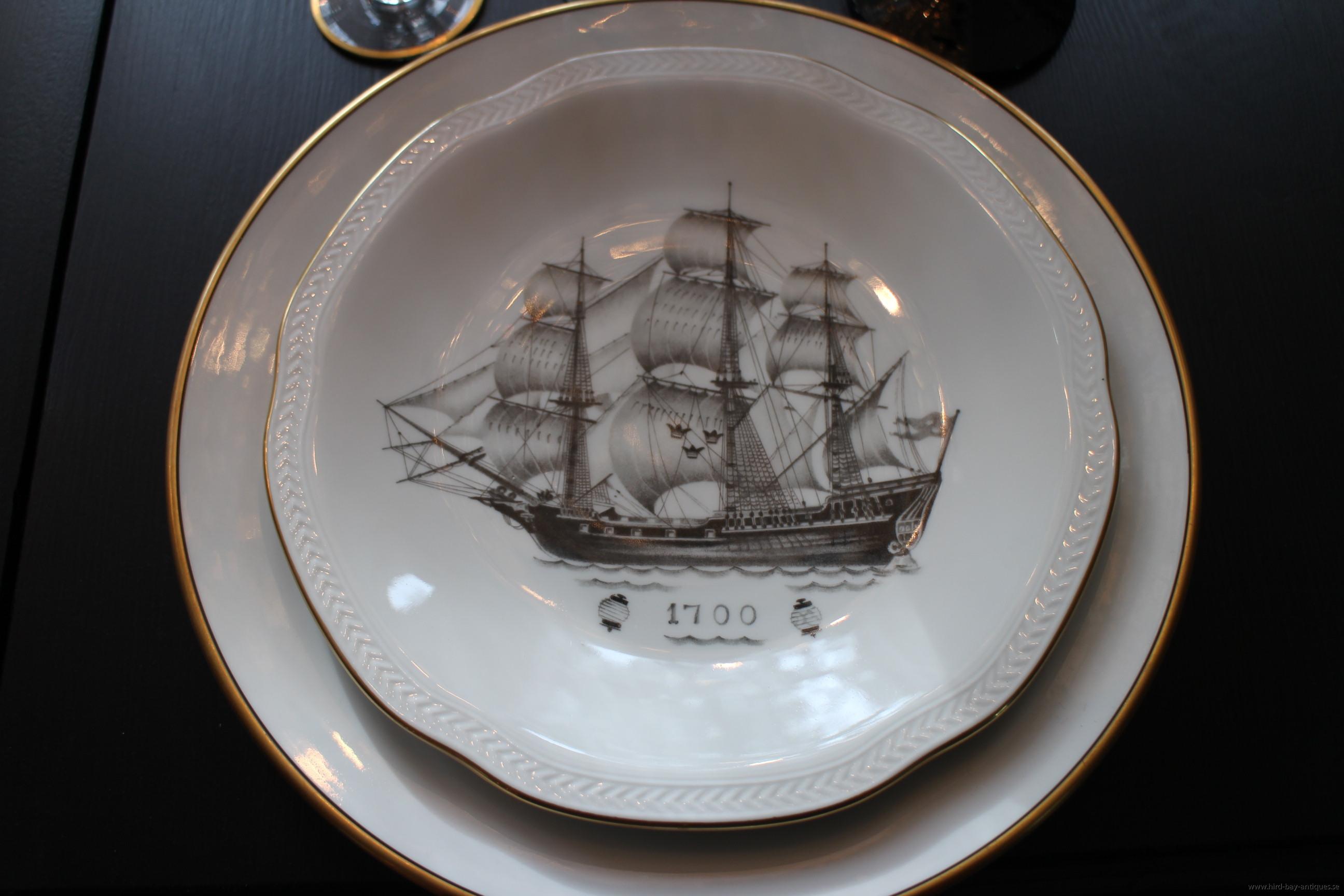 Gustavsberg tallrik skepp