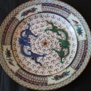 Kinesisk tallrik med drakar