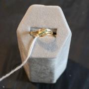 Smaragd och diamantring