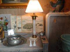 Marmor kolonnlampa