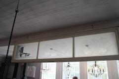 Slipad och etsad fönster