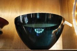 Blå Fuga glasskål