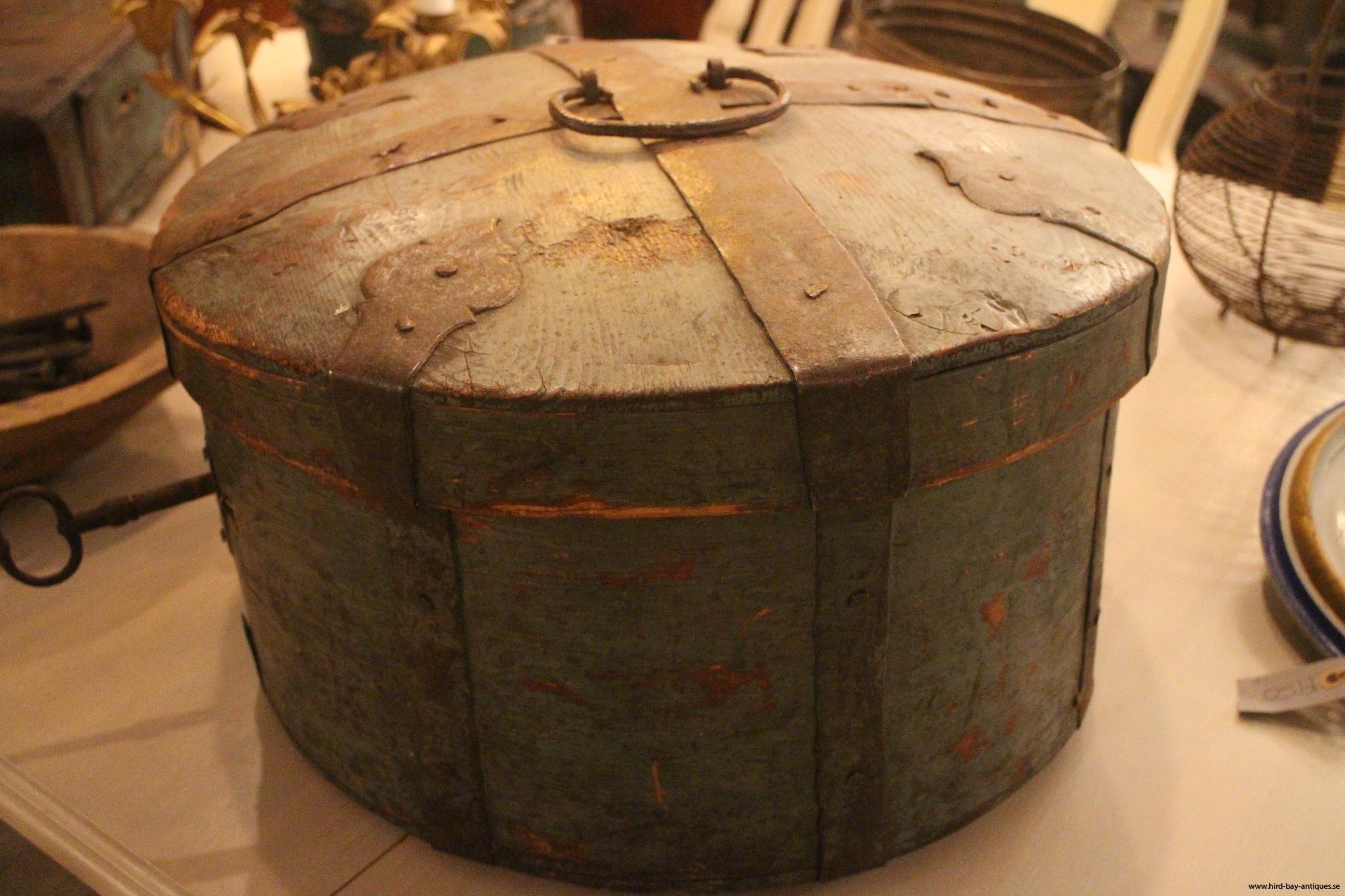 blått skrin 1700-tal