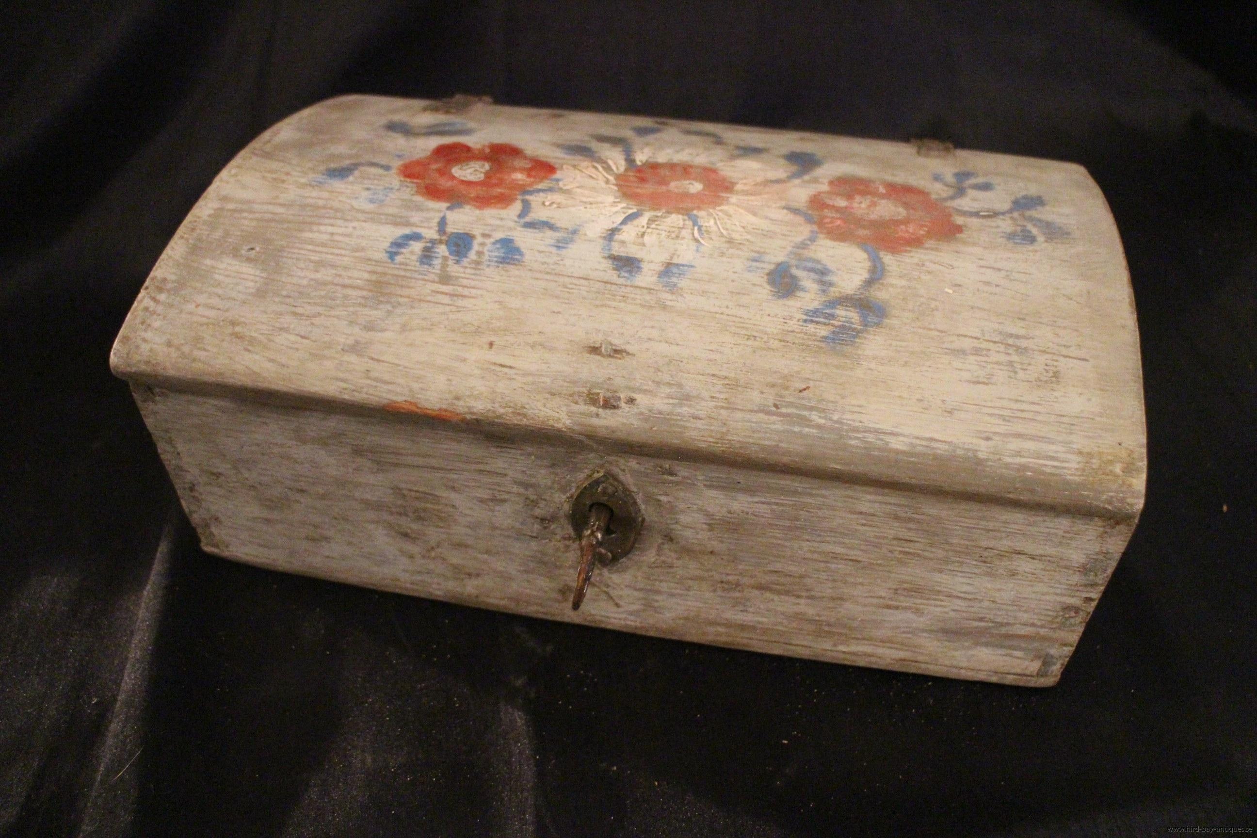 skrin grått blommor 1800-tal
