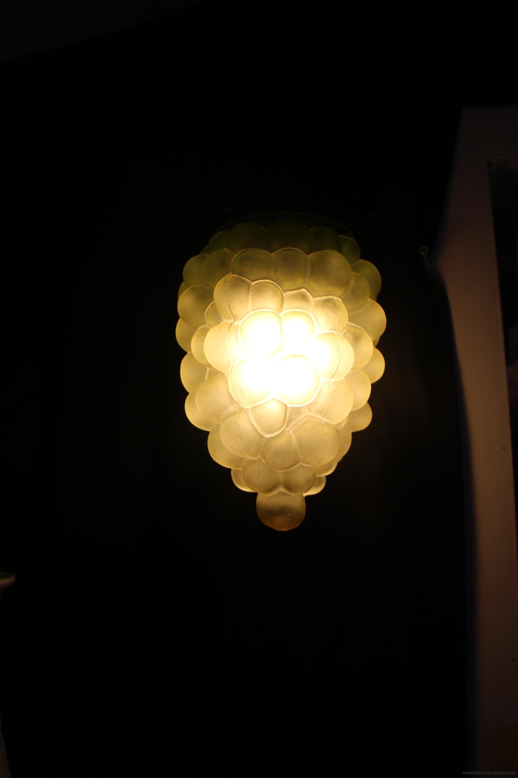 glas lampa druvklase gammal