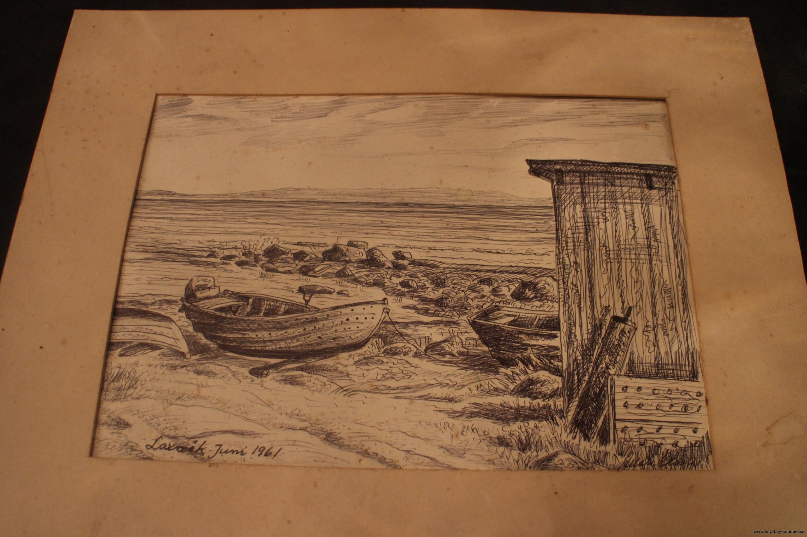 Allan Olsson Markaryd Laxvik teckning