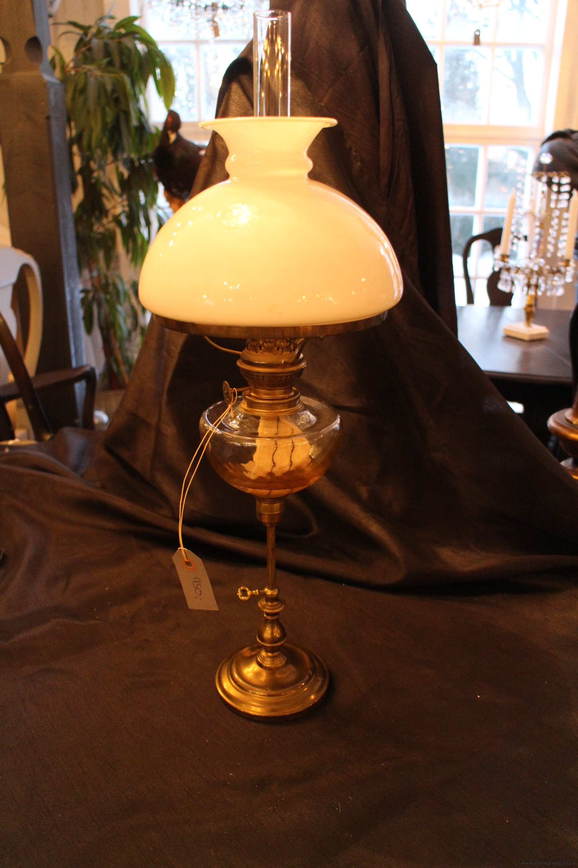 fotogenlampa höj- och sänkbar 1800-tal