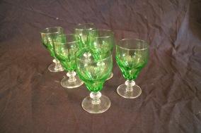 Gröna starkvinsglas