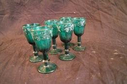 Gröna snapsglas