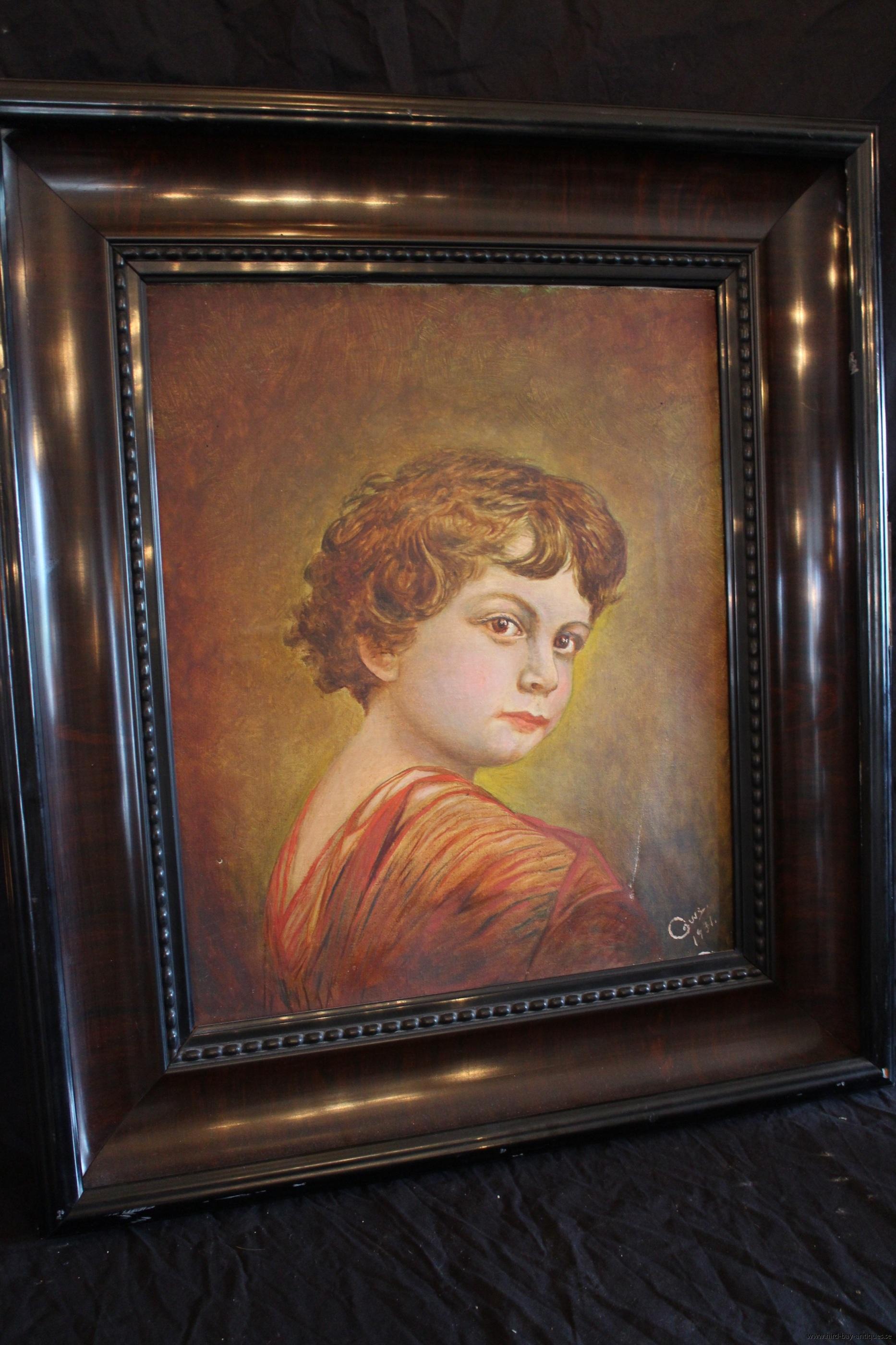 olja på duk porträtt