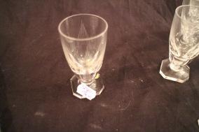 Slipade kristallglas