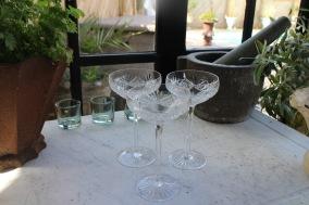 Champagne helkristall glas