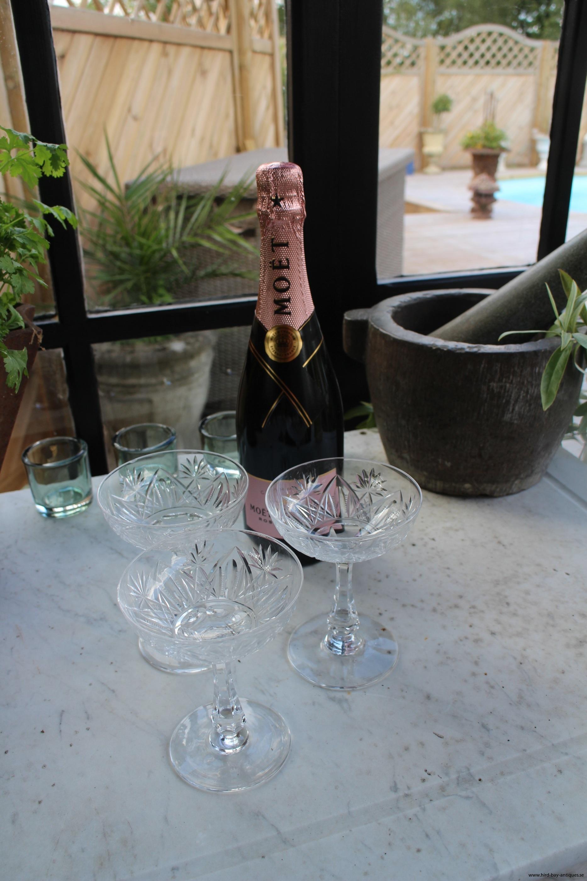 champagne kupor skålar glas