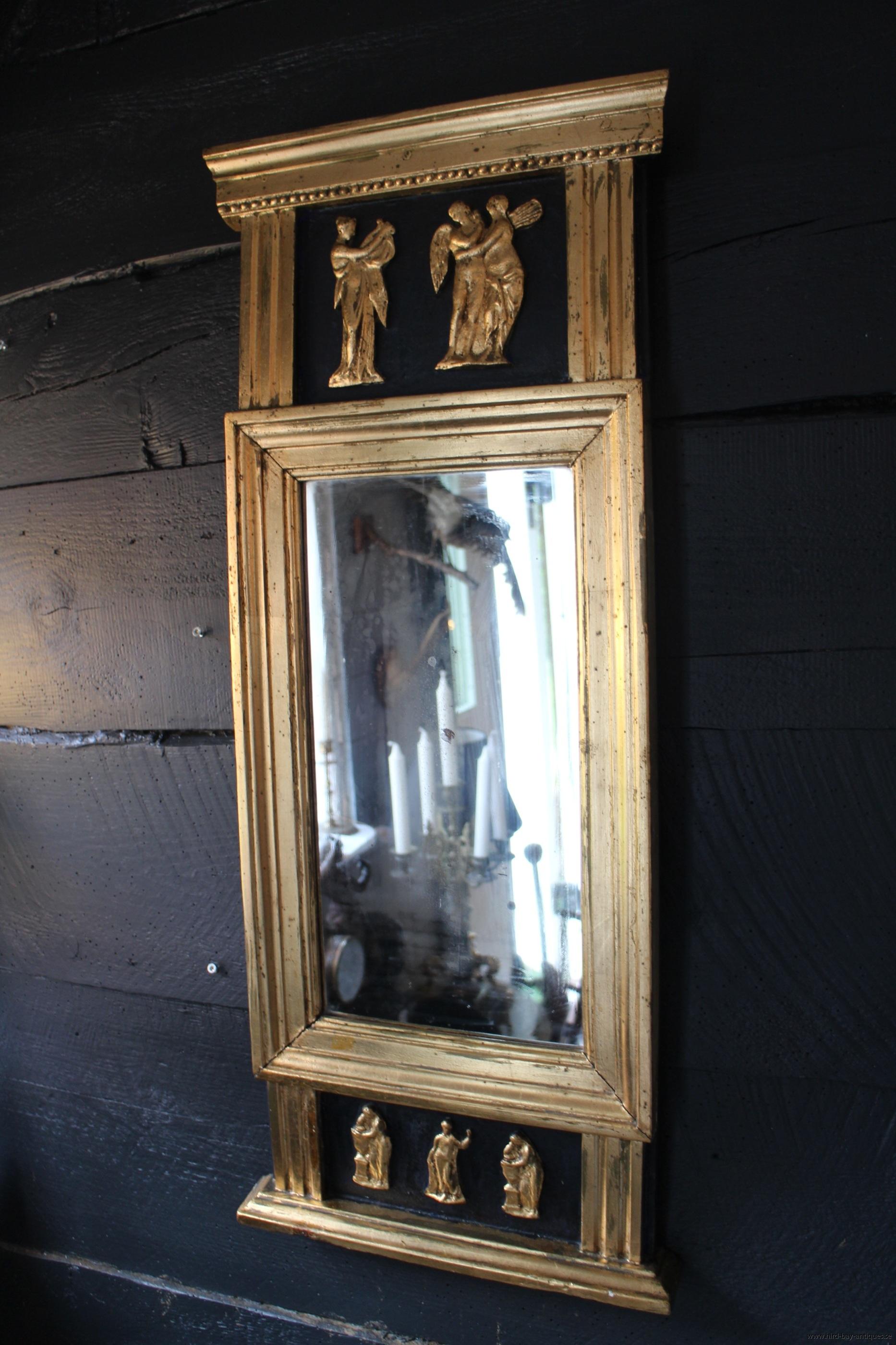 spegel 1800-tal guld antik