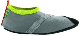Barn Fitkicks, grå med limegröna detaljer. - Storlek XL