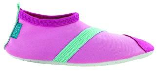 Barn Fitkicks, rosa med blå-grön detaljer - Storlek S