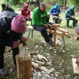 """Workshop på """"Ute är inne"""" 2015 i halvstorm!"""