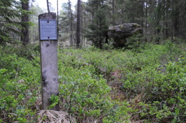 Länsstyrelsens gränsmärke vid Dana sten