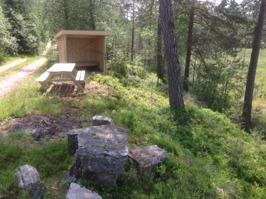 Uppgraderat vindskydd vid Danasjö