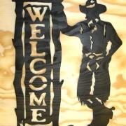 Välkomstskylt Cowboy