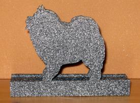 Halländskt hantverk Servetthållare / brevställ i träMålad med granit färg  ca 15x18 cm  Kees Hond