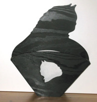 Halländskt hantverk Filterhållare i trä Svart målad Motiv efter önskemål av kund ca 29x25 cm Beroende på motiv