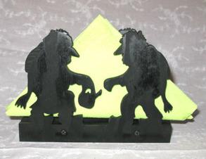 Brevställ / servetthållare med troll - Brevställ / servetthållare med troll