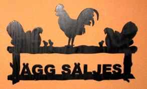 Välkomstskylt Ägg säljes - Välkomstskylt Kackelboden