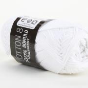 Mayflower Cotton 8 Merceriserat Vit