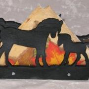 Servetthållare / brevställ Hästar