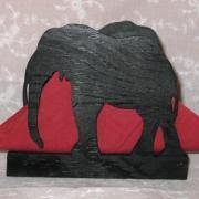 Brevställ / servetthållare Elefant
