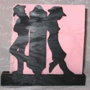 Brevställ / servetthållare Cowboy Cowgirl
