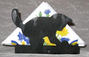 Servetthållare / brevställ Lekande kattunge - Servetthållare / brevställ Lekande kattunge