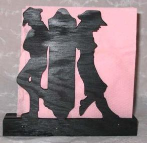 Brevställ / servetthållare Cowboy Cowgirl - Brevställ / servetthållare Cowboy Cowgirl