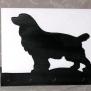 Brevställ / servetthållare Hund